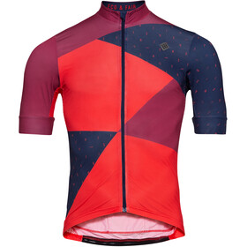 Triple2 Velozip Recycled Poly Jersey Korte Mouwen Heren, beet red
